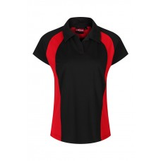 King Alfred Black&Red Girls PE Polo With Logo (9-10 yrs - S)