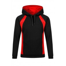 King Alfred Black&Red Sports Hoody With Logo  (M-2XL)