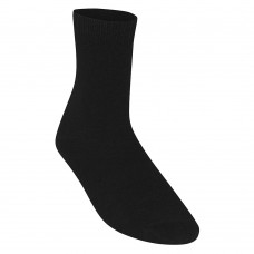 Unisex Smooth Knit Ankle Socks Black (12.5 - 4-6)