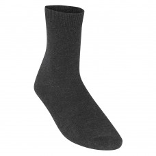 Unisex Smooth Knit Ankle Socks Charcoal (12.5 - 4-6)