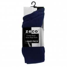 Knee High Socks 3pk - Navy  (12.5/3.5 - 4/6)