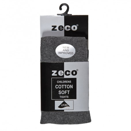 Grey Soft Cotton Tights (3/4 - 13Yrs)