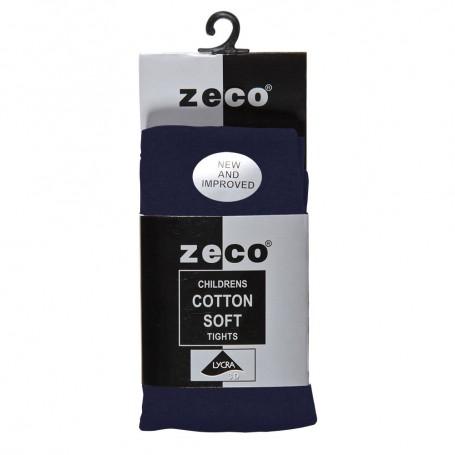 Navy Soft Cotton Tights (3/4 - 13yrs)
