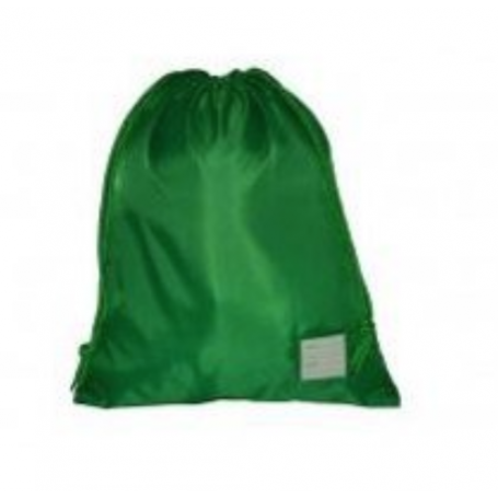 Bottle Green Rucksack style PE/Swimming Bag ( large)