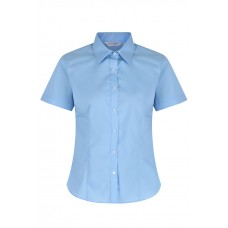 "Blue Short Sleeve Fitted blouses 2Pk  (36""-44"")  Vat"