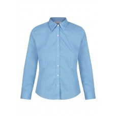 "Blue Long Sleeve Fitted blouses 2Pk  (28""-34"") Non Vat"