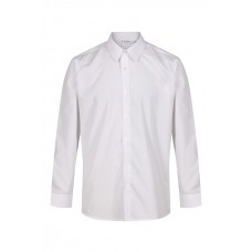"Plain White Slim Fit Long Sleeve Easy Care Shirts (13""-14"")"