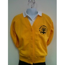 St Marys embroidered Yellow Cardigan