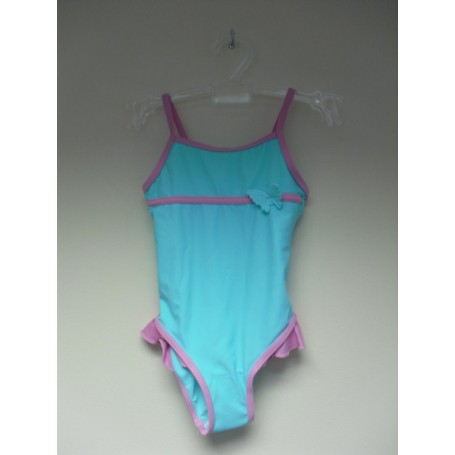 Girls Aqua / pink swimming costume