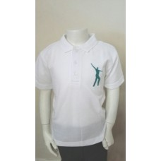 Willowdown White/Jade Embroidered Polo