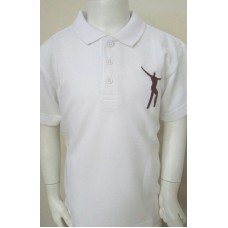 Willowdown White/Claret Embroidered Polo
