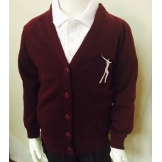 Willowdown Claret Embroidered Cardigan