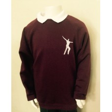 Willowdown Claret Embroidered Sweatshirt