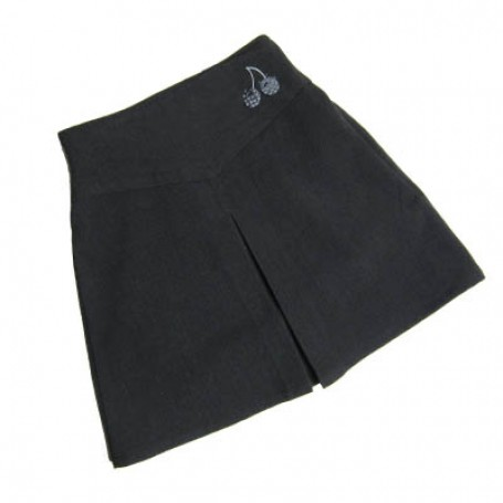 Girls Grey Cherry Skirt
