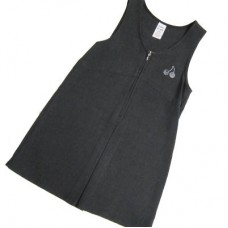 Girls Grey Cherry Pinafore