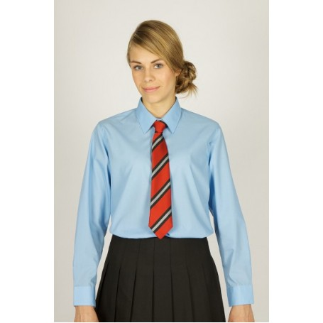 "Blue Long Sleeve Easycare Blouses 2pk  (36""-44"")"