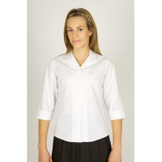 "Deluxe 3/4 Sleeve Rever Collar Fitted Blouse(36""-44"")"