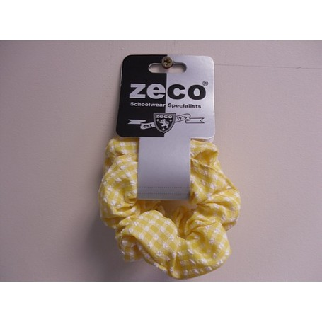 Yellow Gingham Scrunchy