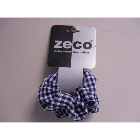 Blue Gingham Scrunchy