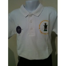 White polo shirt with St John St Francis LOGO (3-4 Years - 11-12 Years)*
