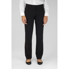 Trutex Slim Leg Trousers Black 24W - 26W