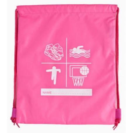 Pink side Drawsring PE / Swimming Bag